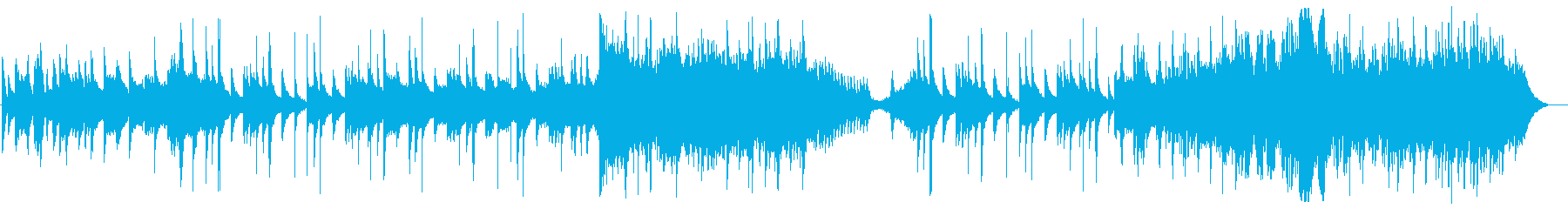 幻想的なハープとストリングスの再生済みの波形