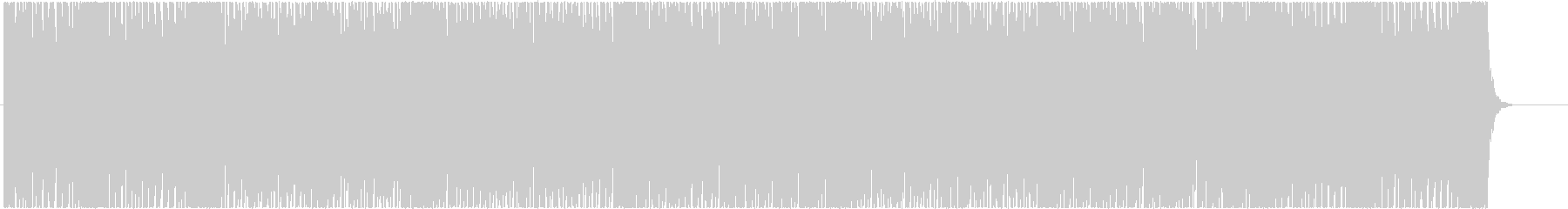Up-tempo and dynamic BGM's unreproduced waveform