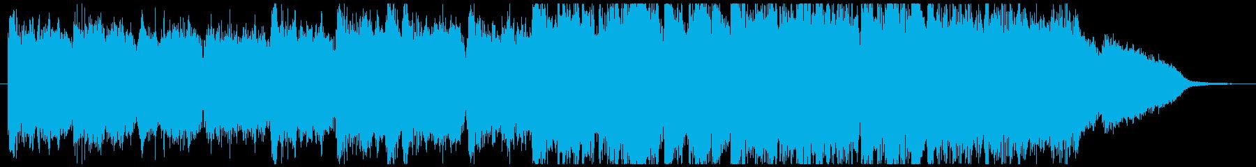 ギターアルペジオとミュートオープニング曲の再生済みの波形