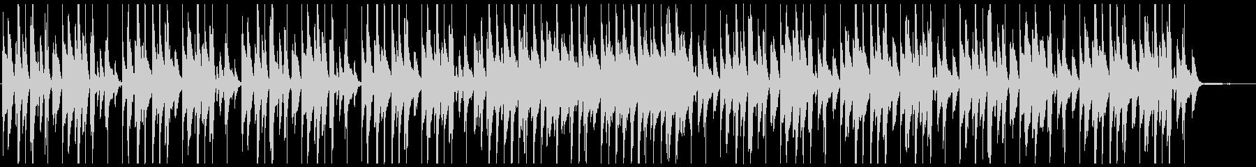 明るくほのぼのジャズテイストなピアノ曲の未再生の波形