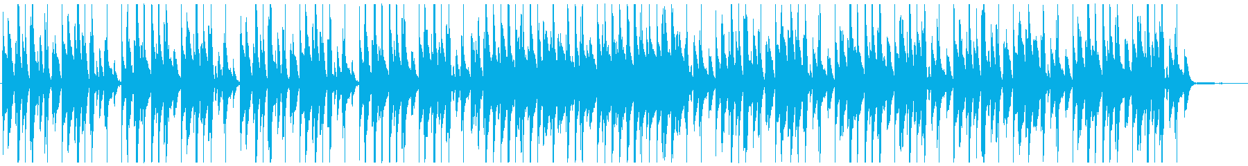 明るくほのぼのジャズテイストなピアノ曲の再生済みの波形