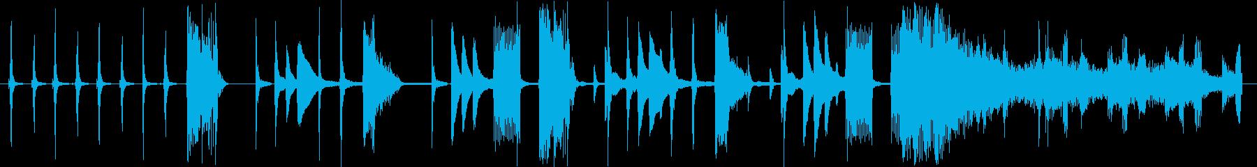 色々な時計の音を使ったCM用BGMの再生済みの波形