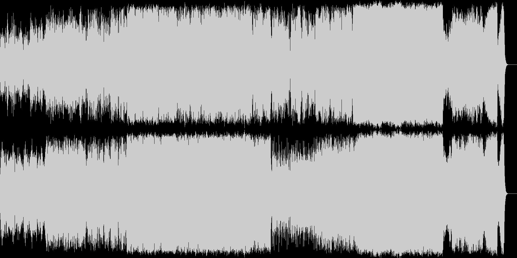 二胡/笛 主体の和風エピック BGMの未再生の波形