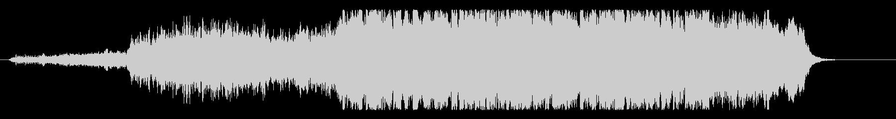 キラキラ雪景色の感動的ジングルの未再生の波形