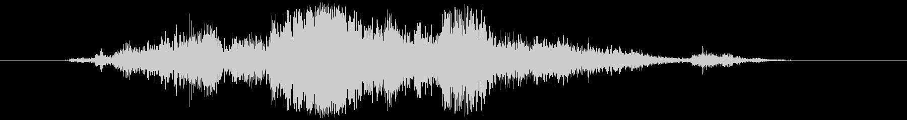 アルミホイル(敷く、触る等)カシャンの未再生の波形
