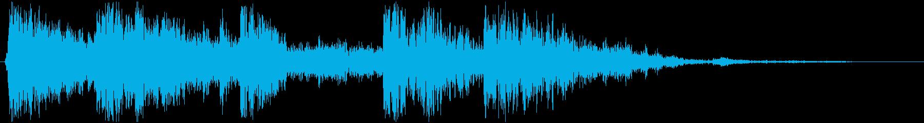 ロックとロールの衝突の再生済みの波形