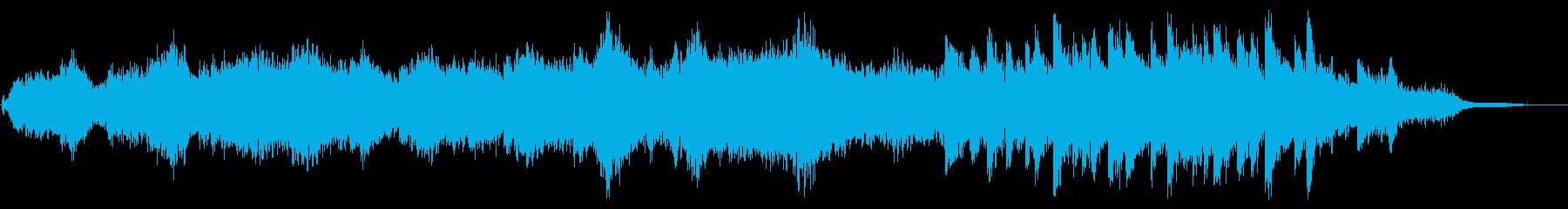 オーケストラ風の環境音楽の再生済みの波形