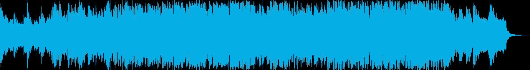 荘厳な和風フルオーケストラの再生済みの波形