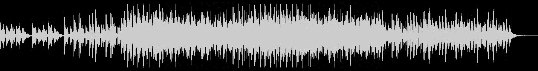 スローテンポで幻想的なシンセサイザーの曲の未再生の波形