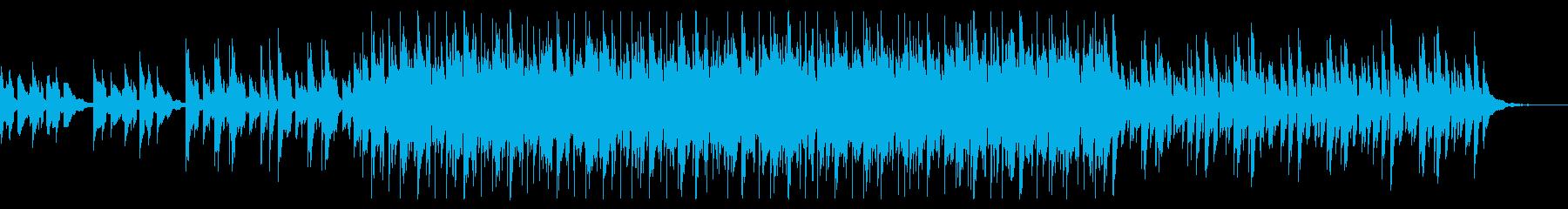 スローテンポで幻想的なシンセサイザーの曲の再生済みの波形