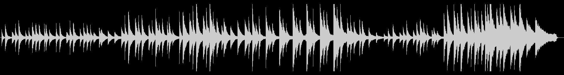 ピアノソロによる葬送行進曲風のバラードの未再生の波形
