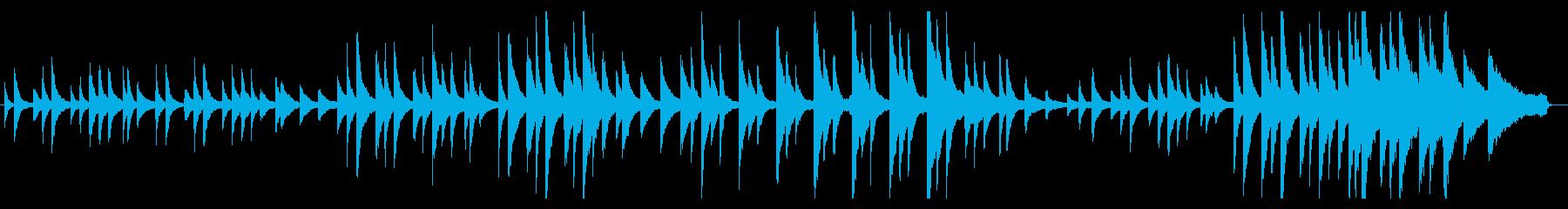 ピアノソロによる葬送行進曲風のバラードの再生済みの波形