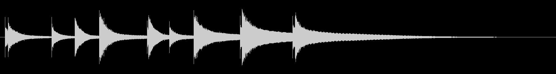音楽ボックス、ショート、ミュージッ...の未再生の波形