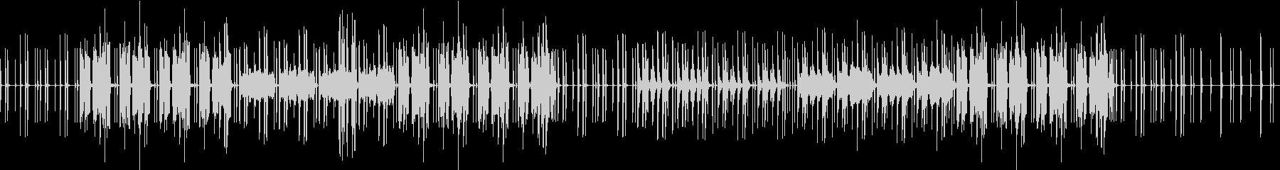 ふわっと明るい親近感のわく音楽の未再生の波形