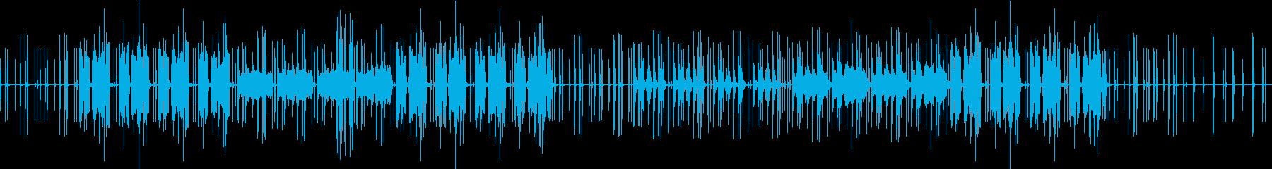 ふわっと明るい親近感のわく音楽の再生済みの波形