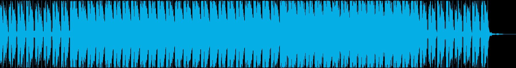 アンビエントなエレキギターの癒し系BGMの再生済みの波形