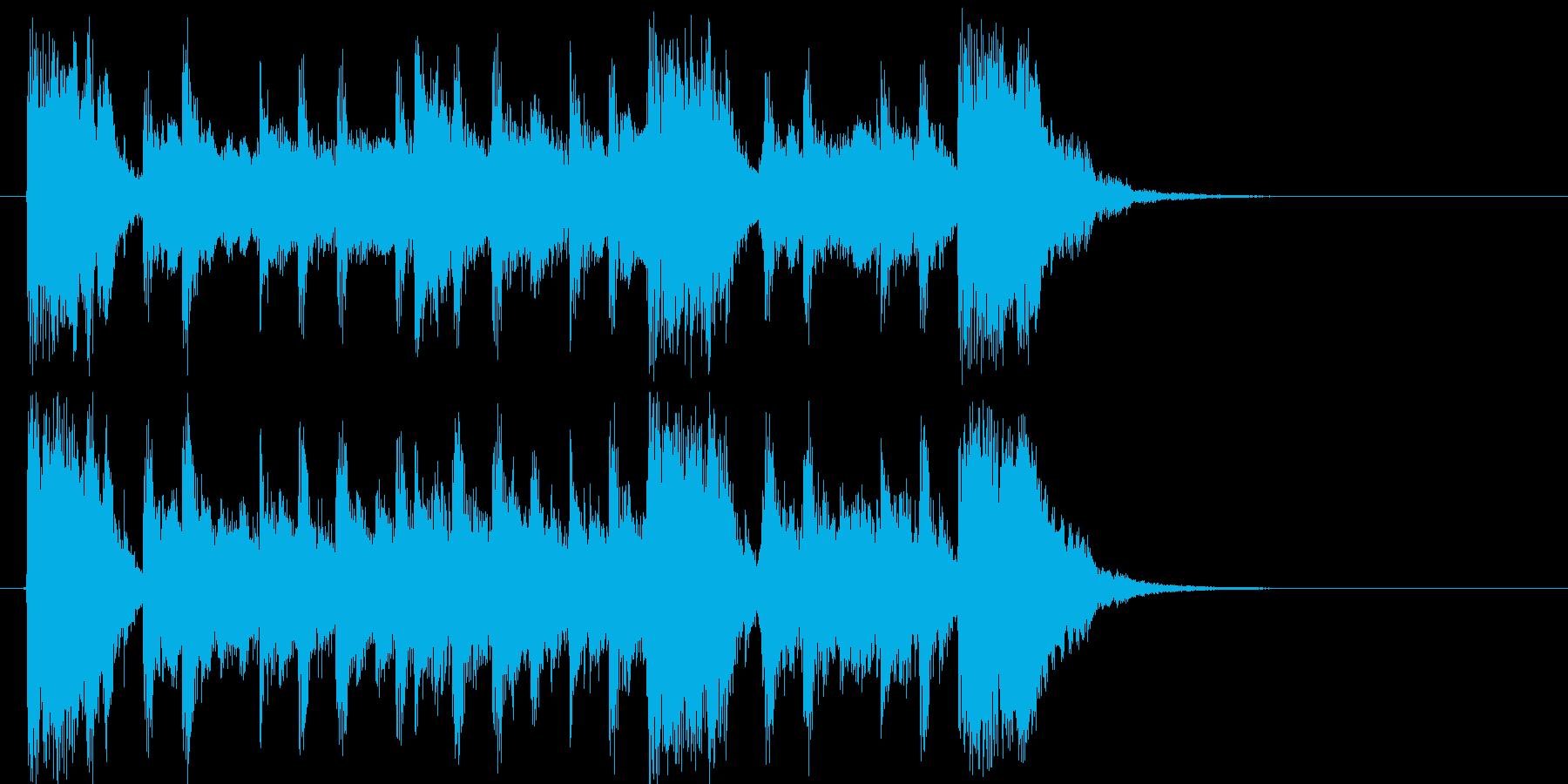 放送向けの軽快なポップファンクジングルの再生済みの波形