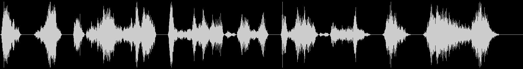 モンスターのうなり声18-24の未再生の波形