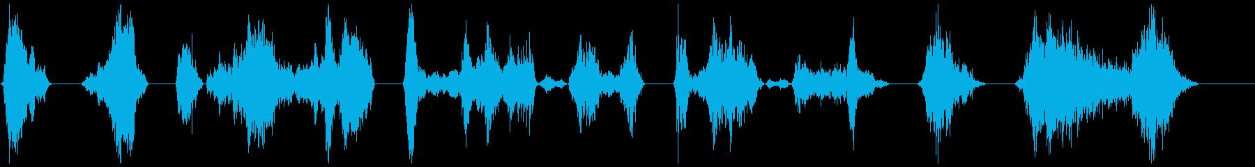 モンスターのうなり声18-24の再生済みの波形