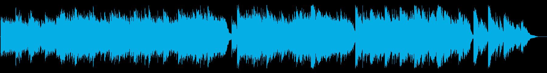 メルヘンで暖かみのあるオルゴールの曲の再生済みの波形