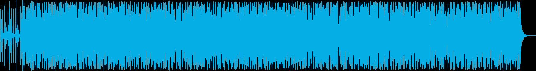 軽やかなラテン系管楽器トランペットなどの再生済みの波形