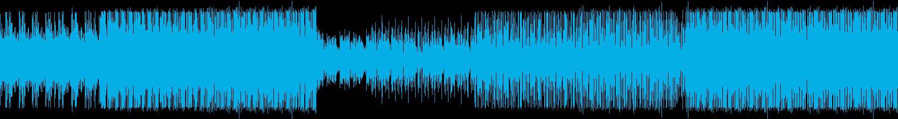 【ループ対応】ビートメインのBGMの再生済みの波形