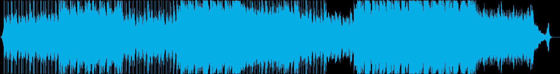 ②綺麗なアコースティックヒップポップの再生済みの波形