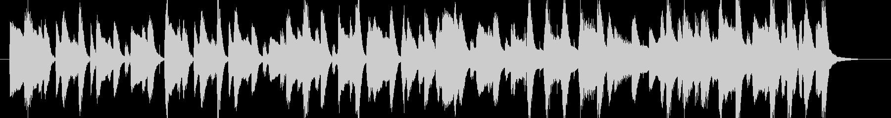 ポップでゆったりしたBGM・ループ楽曲の未再生の波形