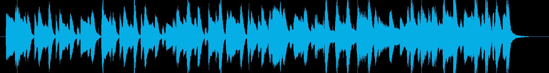 ポップでゆったりしたBGM・ループ楽曲の再生済みの波形