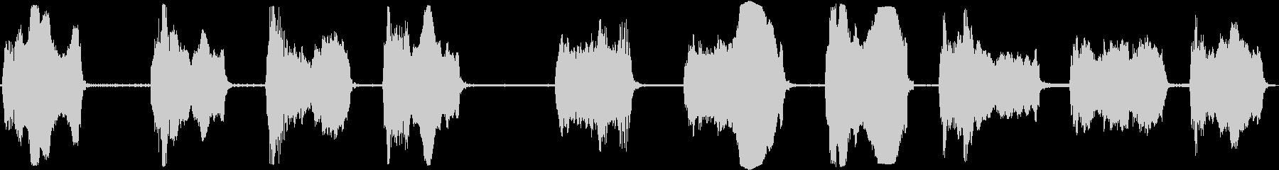 合成スタートアップスウェルの未再生の波形