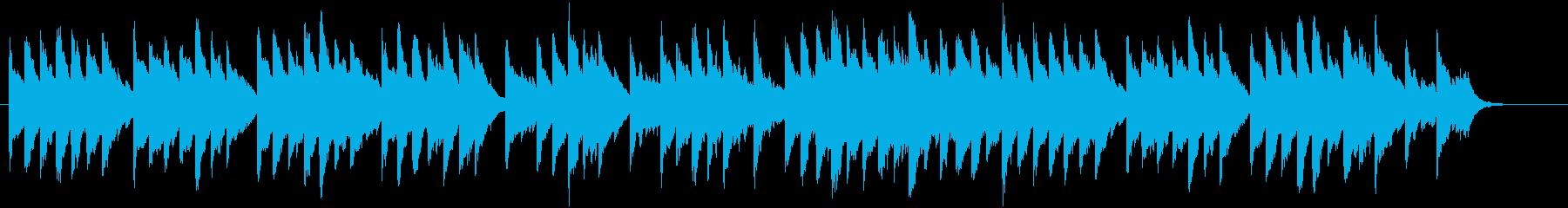 クリスマスをイメージした温かいBGMの再生済みの波形