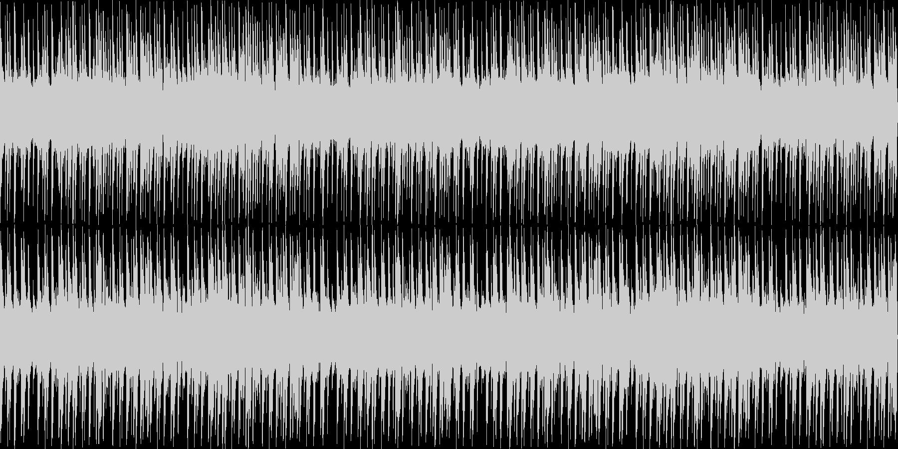 怪しい雰囲気のビートの未再生の波形