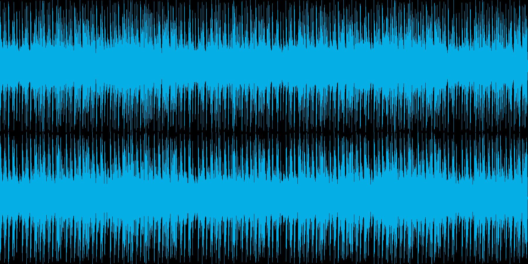 怪しい雰囲気のビートの再生済みの波形