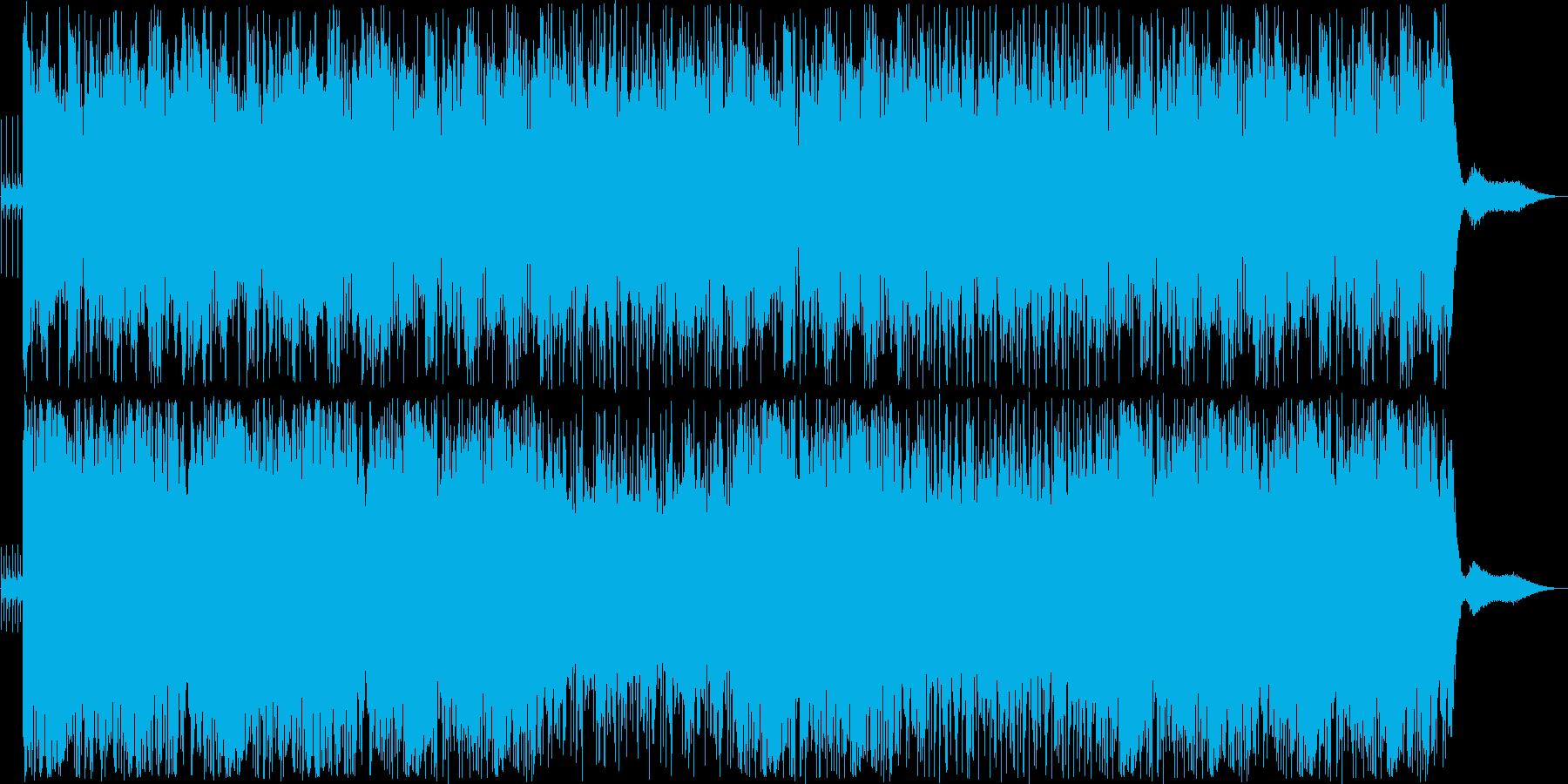 メロディやリズムが印象的な和風ポップスの再生済みの波形