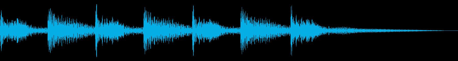 ティンパニ2エンディング、ハイアーの再生済みの波形