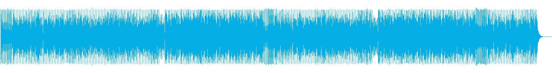 Bizarre and mysterious techno BGM's reproduced waveform