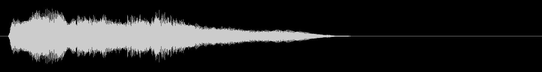クラリネットとアコギのおやすみ風ジングルの未再生の波形