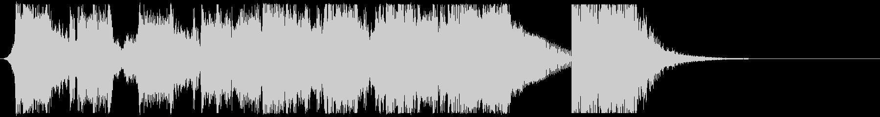 インパクトあるエピックロックサウンドロゴの未再生の波形