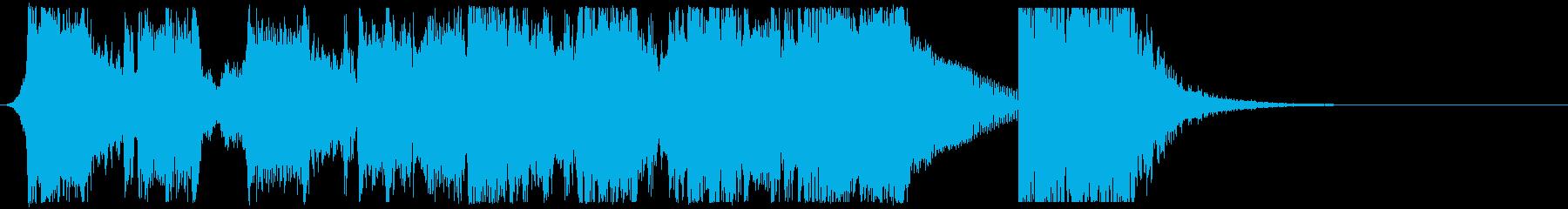 インパクトあるエピックロックサウンドロゴの再生済みの波形