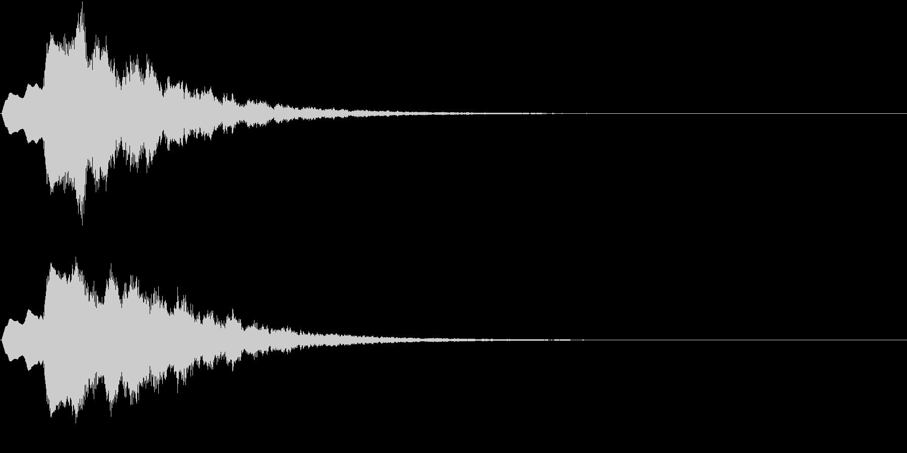 ティラリラン タイトルスーパー ロゴ音1の未再生の波形