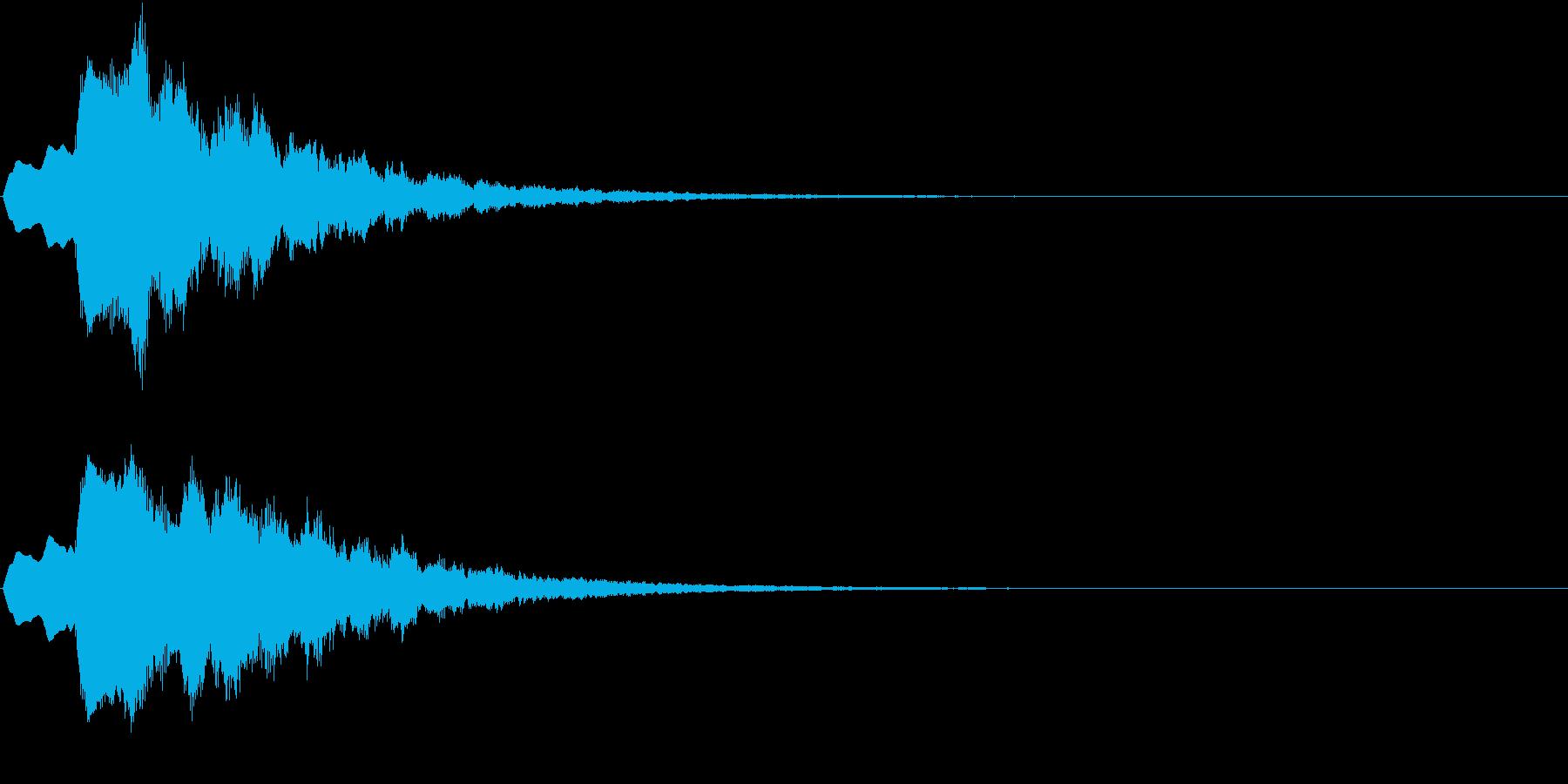 ティラリラン タイトルスーパー ロゴ音1の再生済みの波形