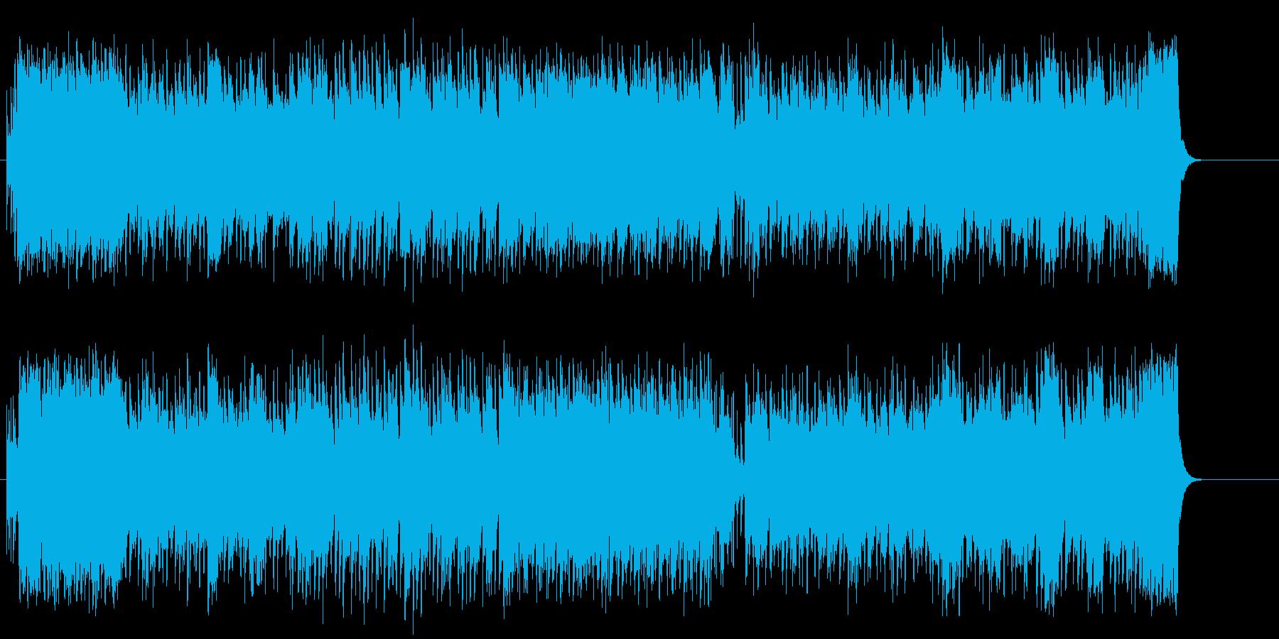 力強さを感じるPR映像向けポップ/BGの再生済みの波形