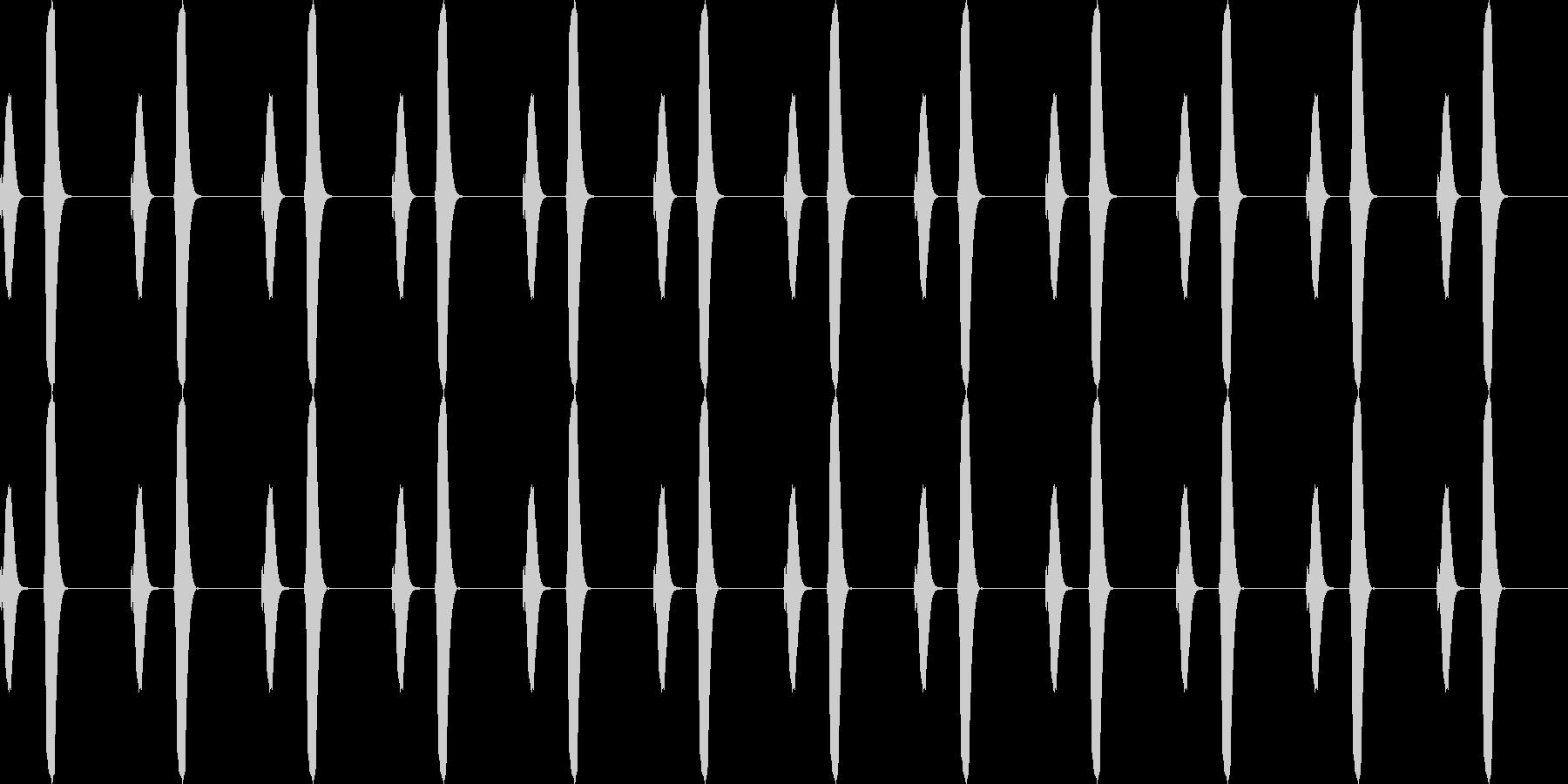 ポッポー...。鳩時計の時報B(高・長)の未再生の波形