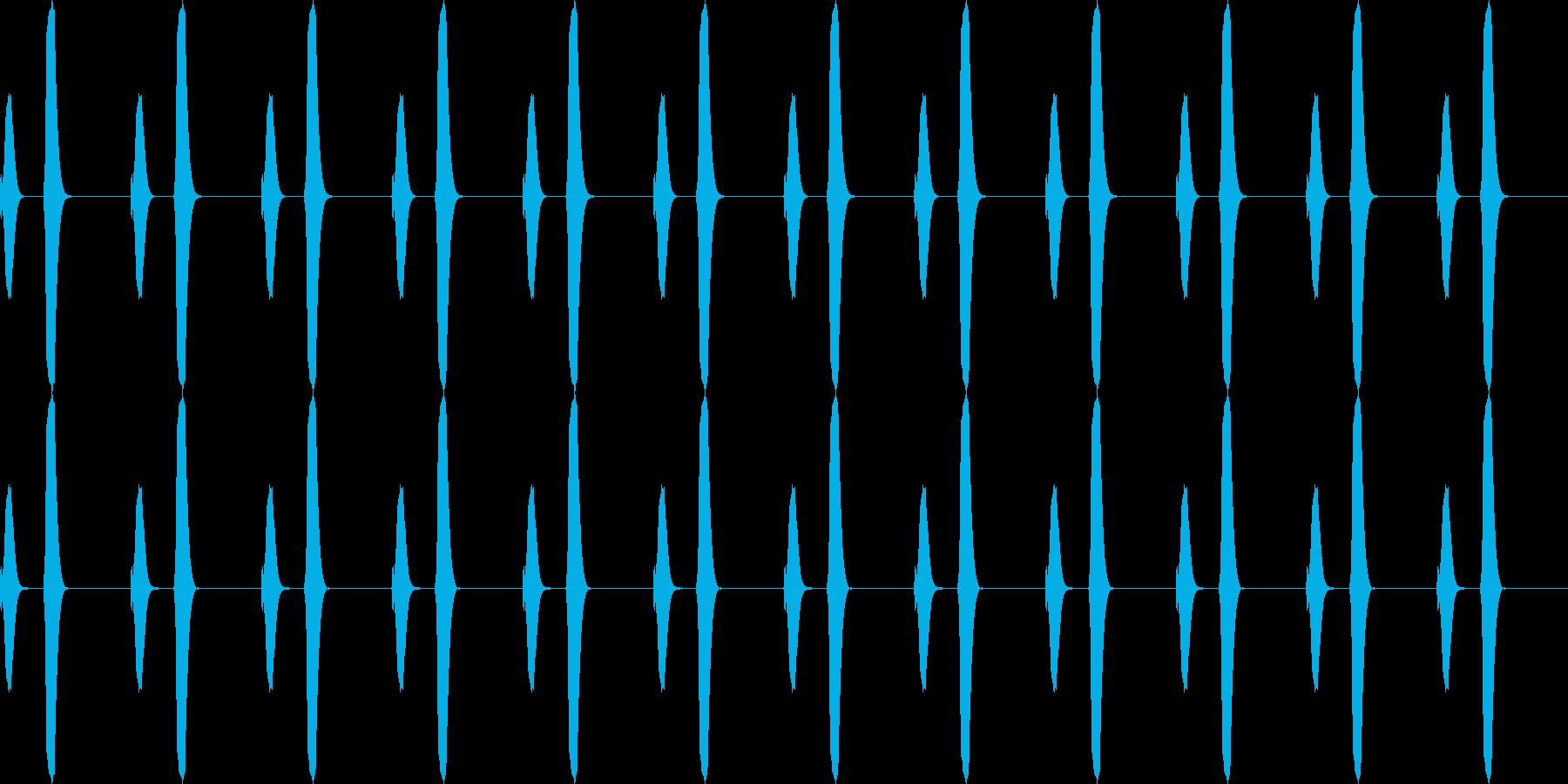 ポッポー...。鳩時計の時報B(高・長)の再生済みの波形