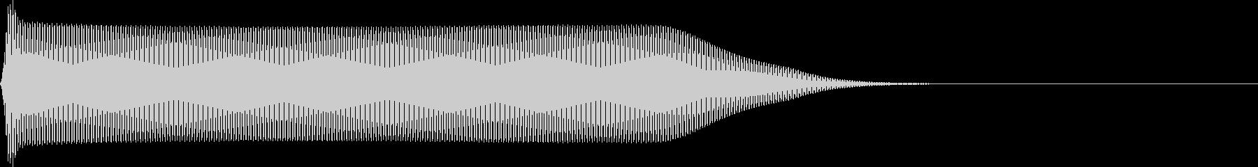 選択音 決定音 シンプル A14の未再生の波形