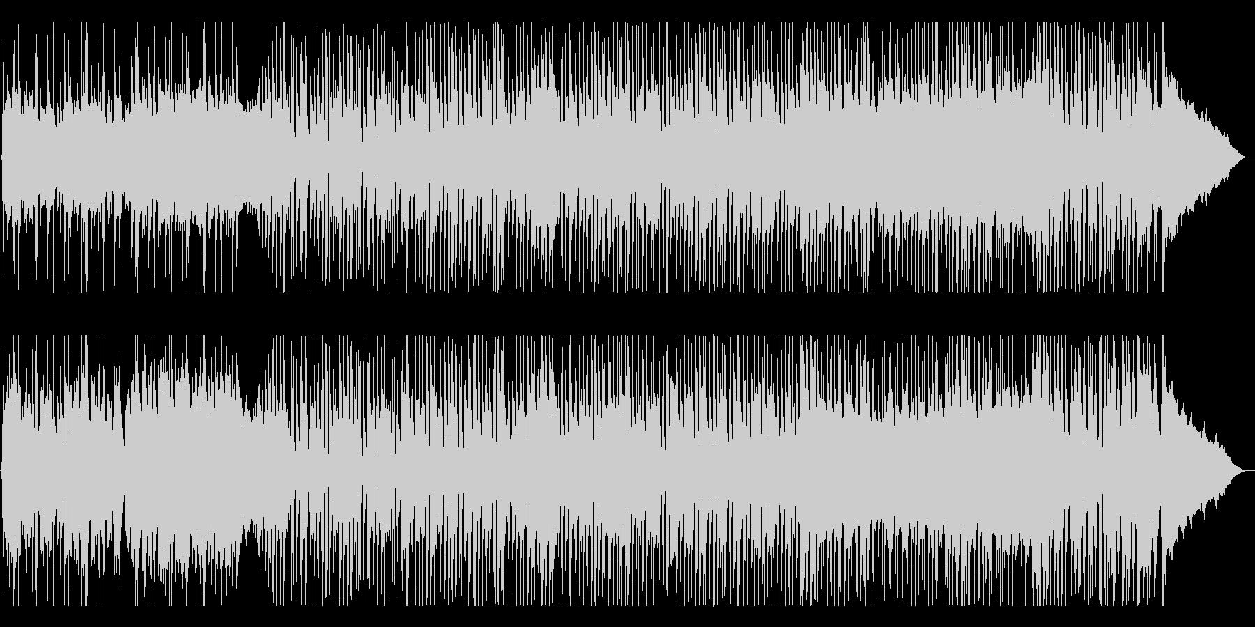 軽快に弾む楽しげなポップサウンドの未再生の波形