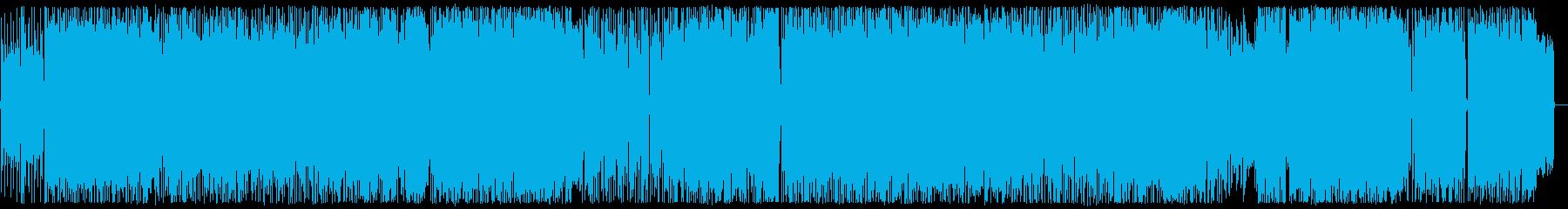 ノリがよく軽快なロックンロールの再生済みの波形