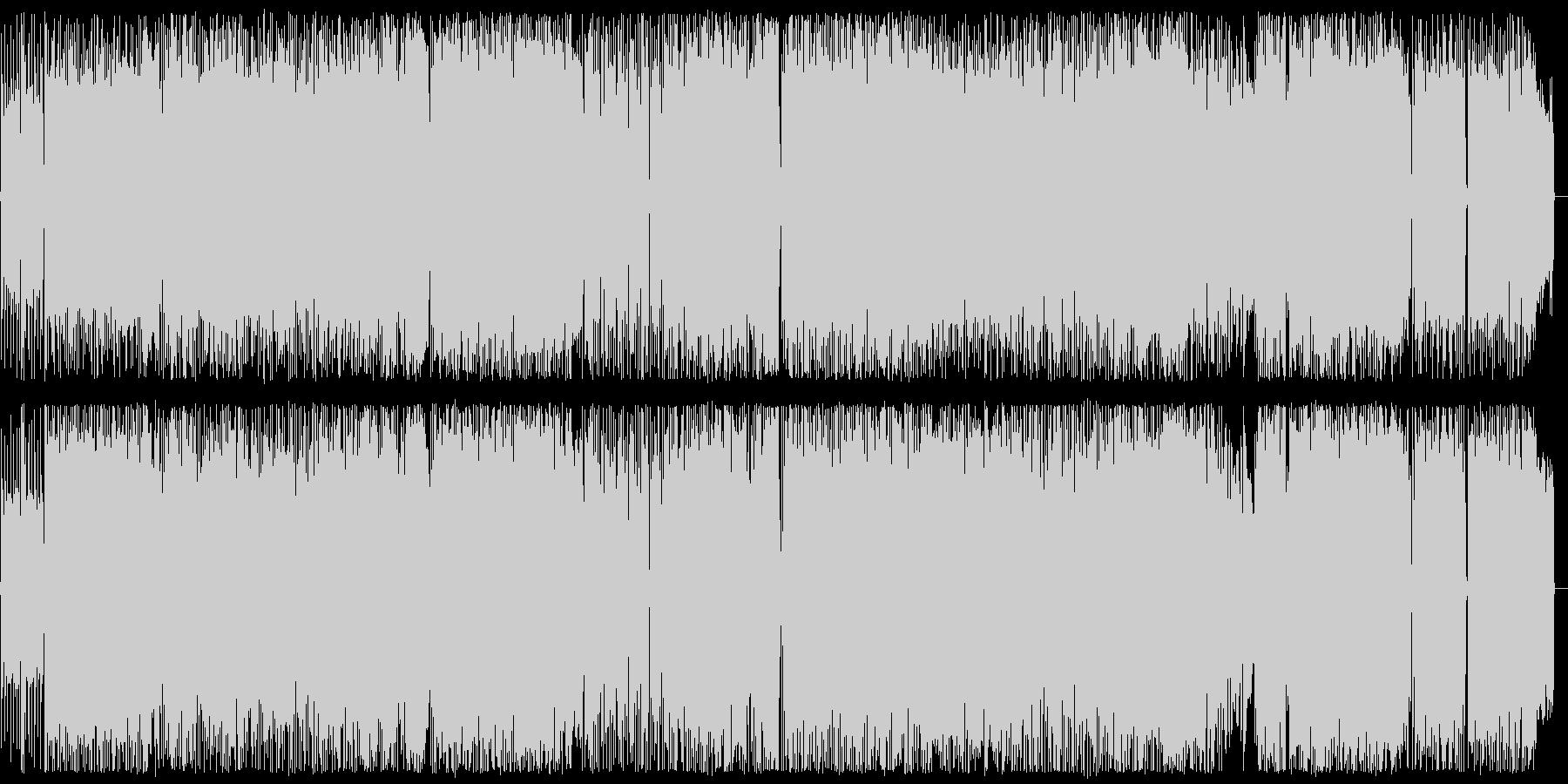 ノリがよく軽快なロックンロールの未再生の波形