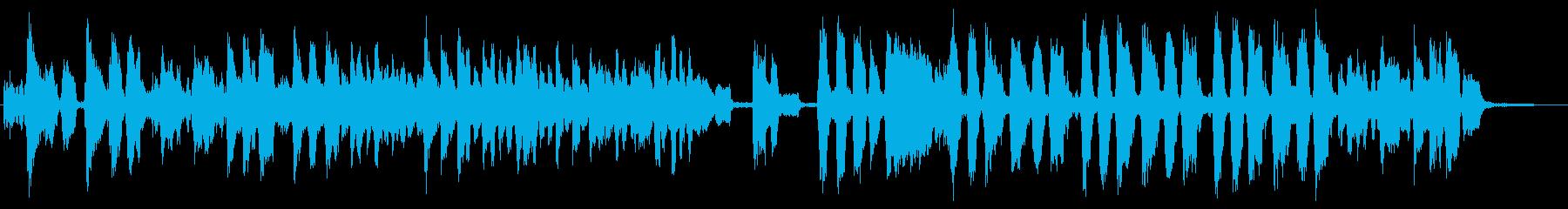 ハンバーガーをテーマにした楽曲の再生済みの波形