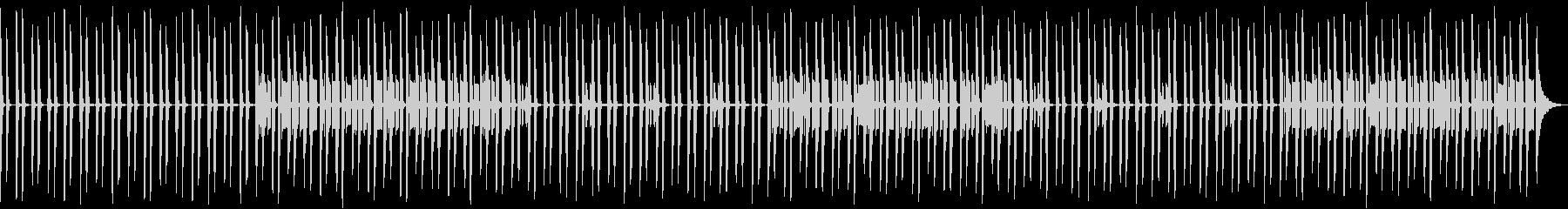 リズムなしの未再生の波形